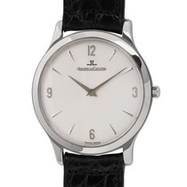Jaeger-LeCoultre Master Ultra Thin pre-owned 34mm Silver Crocodile skin