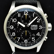 Oris Big Crown ProPilot Chronograph Steel 44mm Black Arabic numerals