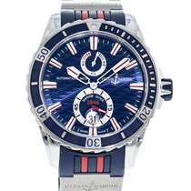 Ulysse Nardin Diver Chronometer 263-10-3R/93 Very good Silver 44mm Automatic