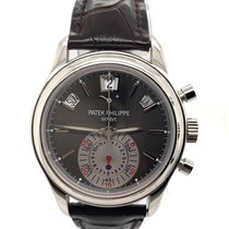 Patek Philippe Annual Calendar Chronograph Platinum 40.5mm Grey No numerals United States of America, New York, New York