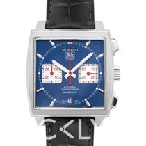 TAG Heuer Monaco Calibre 12 Staal 39.00mm Blauw