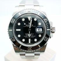 Rolex Submariner Date Çelik 40mm Siyah Sayılar yok