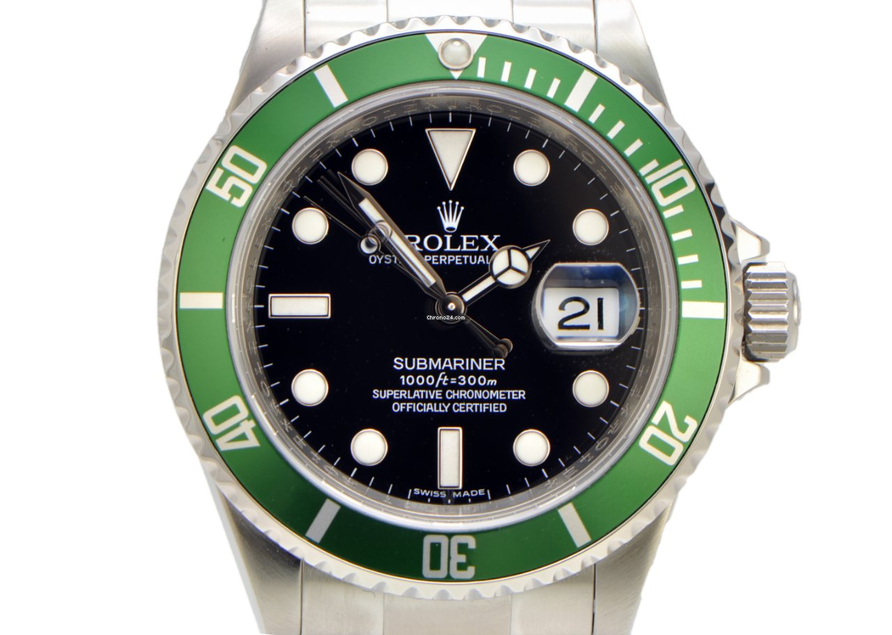 rolex submariner 50th anniversary ed green bezel and black for 18 500 for sale from a trusted. Black Bedroom Furniture Sets. Home Design Ideas