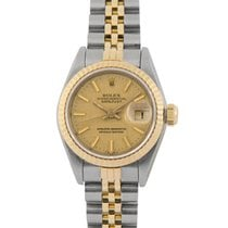 Rolex Datejust Ladies Steel & Gold with Champagne Linen Dial