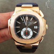 Patek Philippe Nautilus Rose Gold & Leather 5980R