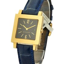 Bulgari SQ29GL Quadrato Quartz in Yellow Gold - On Black...