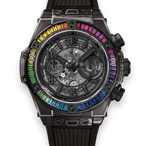 Hublot BIG BANG UNICO ALL BLACK SAPPHIRE RAINBOW