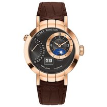 Harry Winston Rose gold Automatic Black 41mm new Premier