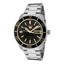 Seiko Steel Automatic Black 42mm new 5 Sports