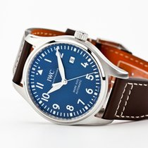 IWC Pilot Mark Steel 40mm Blue Arabic numerals United States of America, New Jersey, Oradell