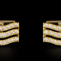 Cartier Diamond Set Wave Cufflinks