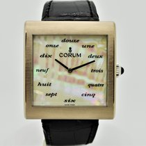 Corum White gold Manual winding Mother of pearl No numerals 37mm pre-owned