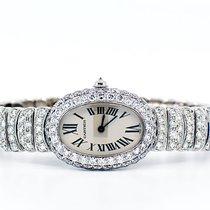 Cartier Baignoire Złoto białe 31mm Biały Rzymskie