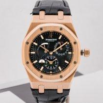 Audemars Piguet Royal Oak Dual Time Rose gold 39mm Black No numerals United States of America, Massachusetts, Boston