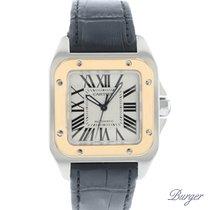Cartier Santos 100 Gold/Steel 35mm White Roman numerals