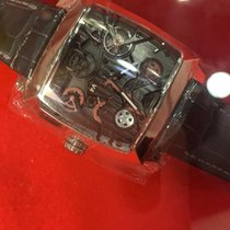 TAG Heuer Monaco V4 Titanium 41mm Zwart Geen cijfers