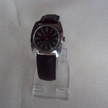 Timex použité Ruční natahování 33mm Černá Plastikové sklo