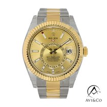 Rolex Sky-Dweller Steel 42mm Champagne No numerals United States of America, New York, New York