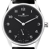 Dürmeister new Manual winding Display back Small seconds Only Original Parts 43mm Steel Sapphire crystal