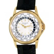 Patek Philippe World Time 5110j Yellow Gold Leather 37mm