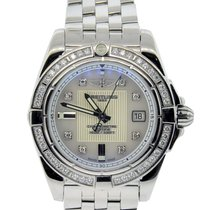 Breitling Galactic 32 Diamond Bezel and Mother of Pearl Dial