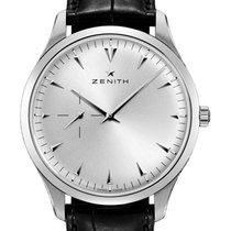Zenith Elite Ultra Thin Steel 40mm Silver No numerals