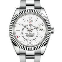 Rolex Sky-Dweller Steel 42mm White No numerals United States of America, New York, NEW YORK