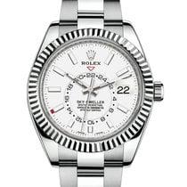 Rolex Sky-Dweller Steel 42mm White No numerals