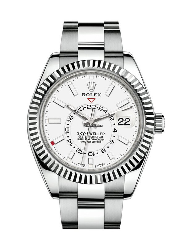 Rolex Sky,Dweller 42mm white dial