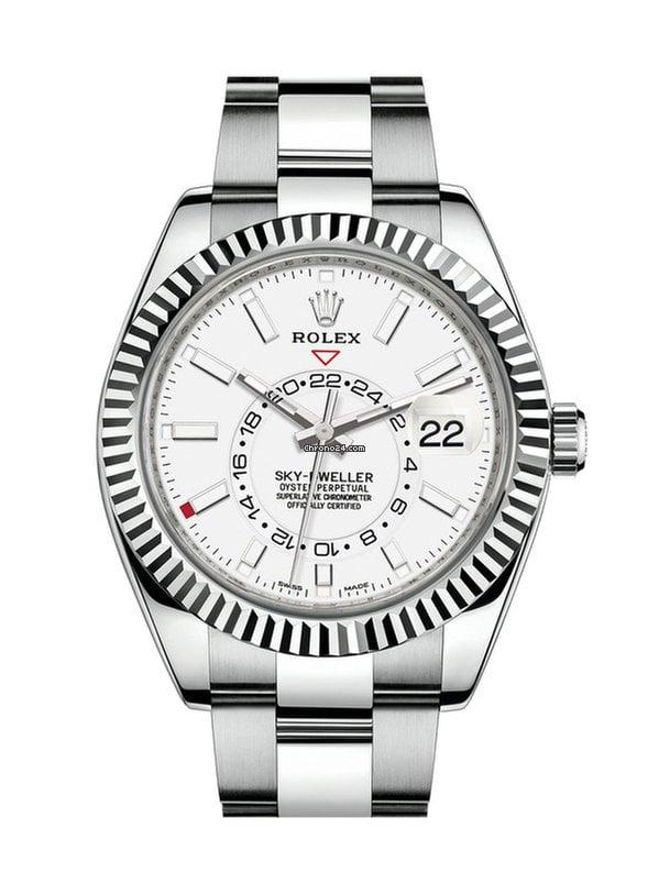 Rolex Sky,Dweller 42mm white dial