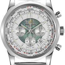 Breitling Transocean Chronograph Unitime Zeljezo 46mm