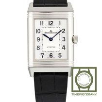 Jaeger-LeCoultre Reverso Classic Medium Duetto Stahl 40.1mm Silber Arabisch