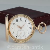 Dürrstein Dresden 1890 Taschenuhr Minuten-Repetition 14k Gold...