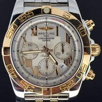 Breitling Chronomat 44MM, Gold/Steel White Dial Box&Papers/201...