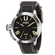 U-Boat CLASSICO U-47 AS1 Steel Black Dial & Leather Strap 47mm