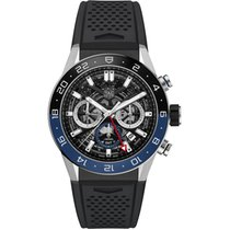TAG Heuer Chronograph 45mm Automatic new Carrera (Submodel) Black