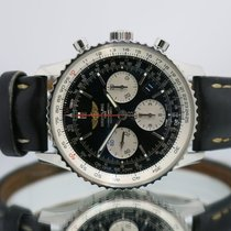 dfe7607f9c44 Breitling Navitimer 01 pre-owned 43mm Black Chronograph Date Leather