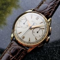 Zenith Yellow gold Manual winding Silver 37.5mm pre-owned