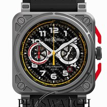 Bell & Ross Titanium Automatic Black Arabic numerals 42mm new BR 03-94 Chronographe