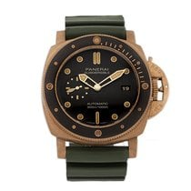 Panerai Bronze Remontage automatique Brun Sans chiffres 47mm occasion Luminor Submersible