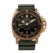 Panerai Bronse Automatisk Brun Ingen tall 47mm brukt Luminor Submersible