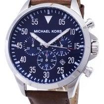 Michael Kors Stahl Quarz Blau Arabisch 45mm neu