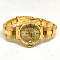 Rolex Oro rosado Automático Plata Sin cifras 26mm usados Oyster Perpetual Lady Date