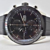 Oris Artix GT usados 44mm Negro Cronógrafo Fecha GMT Caucho