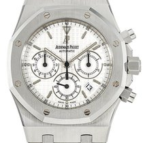 Audemars Piguet Royal Oak Chronograph Ocel 39mm Bílá Bez čísel