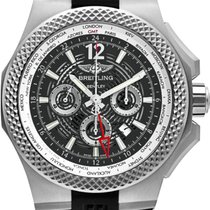Breitling Bentley B04 GMT Титан 49mm Черный Без цифр