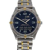 Breitling Aerospace gebraucht 40mm Grau Minutenrepetition Chronograph Datum Wecker GMT/Zweite Zeitzone Titan