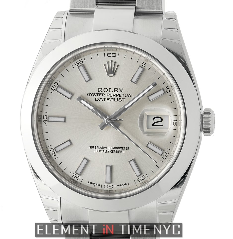 rolex oyster bracelet for sale rolex datejust ii steel 41mm silver index oyster 2547