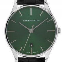 Schaumburg Watch Classoco Purist Stahl Automatik Armband Leder...