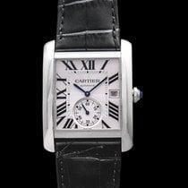 Cartier Tank MC Watch Large Model Silver Steel/Leather - W5330003